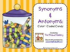 FREE! Try this fun, color-coding activity using synonyms and antonyms with your students.
