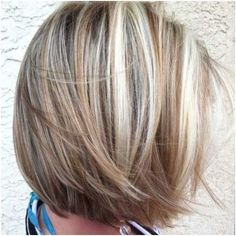 ash blonde with chunky highlights
