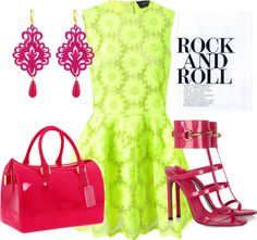 Rock and Roll Neon and Hot Pink