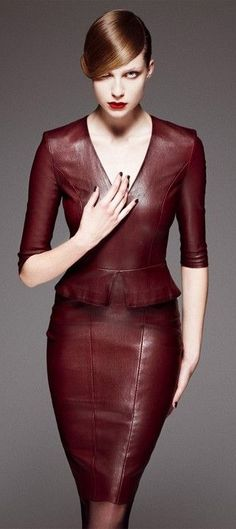 Jitrois burgundy maroon leather  women fashion outfit clothing style apparel @roressclothes closet ideas