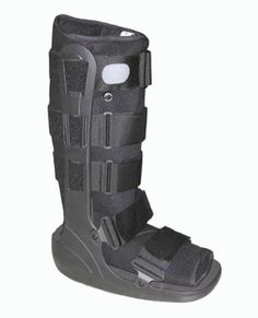 Ready to be done with the cam boot. This pneumatic walking boot is designed for the treatment of stable fractures and ankle sprains.  The easily adjustable air cells in this tall walking boot increase stability and compression while decreasing pain and swelling.  To see other cam walkers we offer check out http://www.braceability.com/foot-braces-foot-supports-ankle-support-socks-foot-splints/cam-walker-cam-boot