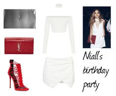 """""""3.2"""" by ronniebenett ❤ liked on Polyvore featuring Giuseppe Zanotti and Yves Saint Laurent"""