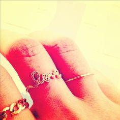 via Lauren Conrad's Instagram - #tiny #rings