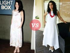 We are quite impressed with the summer wardrobes of Bollywood celebrities. With the sweltering heat upon us, they are keeping things cool and giving us all a little style inspiration too!  Take Kajol and Kalki for example. The actresses wore similar summer dresses to different events. Since we can't seem to decide who looks better, we'll let you decide.