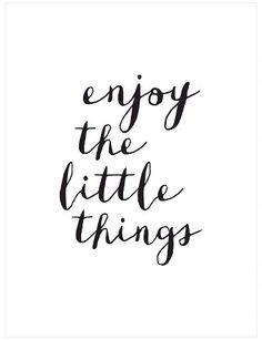 Art.com Enjoy The Little Things Copy by Brett Wilson Unframed Wall Art Print