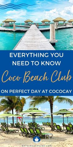We outline everything you need to know about the Coco Beach Club on Perfect Day at CocoCay to help you decide if it is worth it. Packing List For Cruise, Cruise Tips, Cruise Travel, Cruise Vacation, Southern Caribbean, Royal Caribbean, Bahamas Cruise, Caribbean Cruise, Cruise Destinations