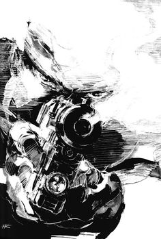 Snake Face Black & White, Metal Gear Solid 1