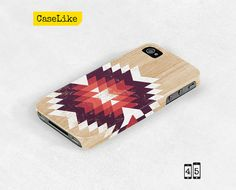 3D #iPhone 5 #Case  #Tribal #Geometric #Triangle On #Wood by #caselike, $22.00
