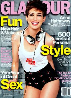 Anne Hathaway - January 2013 Glamour magazine
