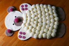 alfombras de pompones infantiles - Buscar con Google