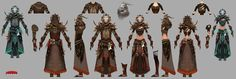 Armor Style - what do you expect or want? [Image Heavy Thread] - Page 59 - Tyrian Assembly - Guild Wars 2 Guru - Page 59 Armor Concept, Weapon Concept Art, Character Concept, Character Art, Ranger Armor, Guild Wars 2, New Fantasy, Fantasy Illustration, Character Design References