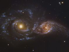 NGC 2207 and Ic 2163 Colliding Galaxies in Canis Majormosaic Data from the Hubble Legacy Archive