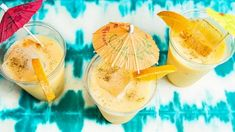 The PAINKILLER COCKTAIL: For those of us unable to embark on an island getaway, making a tropical drink with rum, pineapple juice and cream of coconut, is a close substitution. Best Rum Cocktails, Rum Cocktail Recipes, Cocktail Drinks, Classic Cocktails, Summer Cocktails, Drink Recipes, Party Drinks, Fun Drinks, Yummy Drinks