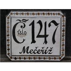 domovní číslo vzor 23