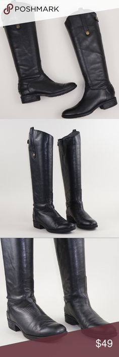 """Sam Edelman 4.5 knees high boots with zippers These are gently worn, still in great shape. There are some minor signs of wear, please take a look of all the pictures to the item details.  Let me know if you have any questions and reasonable offers are welcomed.   — Size: 4.5 M — Color: Black — Calf circumference: 13.5"""" — Ankle circumference: 10.5"""" — Shaft height: 15.5"""" Sam Edelman Shoes Over the Knee Boots"""