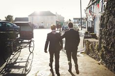 groom and twin brother walking castle durrow laois Ireland Wedding Photography Ireland Wedding, Irish Wedding, Wedding Fair, Light Wedding, Groomsmen Suits, Winter Light, Documentary Wedding Photography, Stay The Night, Life Photo