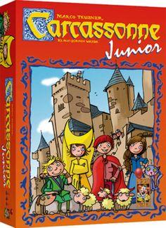 Carcassonne Junior is een bewerking van het bekende basisspel Carcassonne. Deze versie is al geschikt voor kinderen vanaf 4 jaar. Je krijgt 8 houten speelstukken, de zogenaamde kinderen van Carcassonne.    Carcassonne Junior is winnaar van de verkiezing Spel van het Jaar 2012 in de categorie 3-6 jaar!  http://www.planethappy.nl/999-games-carcassonne-junior.html