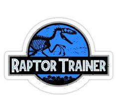 Jurassic World Raptor Trainer Sticker Jurassic World Raptors, Jurassic World Dinosaurs, Jurassic Park World, Diy Birthday Banner, Dinosaur Birthday Party, Lightning Bug Crafts, Kids Party Tables, Jurassic Park Party, Raptor Dinosaur