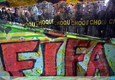 Riot police face protesters in the vicinity of the FIFA Fan Fest in Copacabana Beach in Rio #WorldCup #AFP