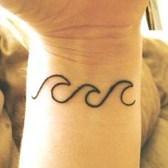 My new wrist tattoo. Three waves. by josie