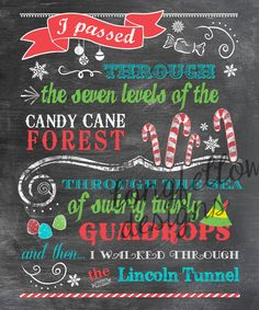 Buddy The Elf Candy Cane Forest Colorful by Longfellowdesigns