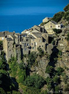 Nonza Corsica, Mansions, House Styles, Places To Visit, Mediterranean Sea, Manor Houses, Villas, Mansion, Palaces