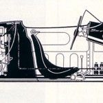 Porsche 550 cutaway - lowest centre of gravity possible - done in the 1950's !!