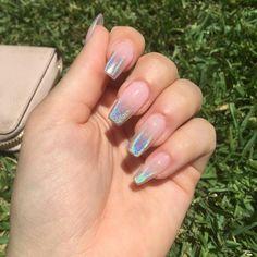 How to choose your fake nails? - My Nails Square Acrylic Nails, Best Acrylic Nails, Simple Acrylic Nails, Aqua Nails, Gradient Nails, Cute Nails, Pretty Nails, Hair And Nails, My Nails