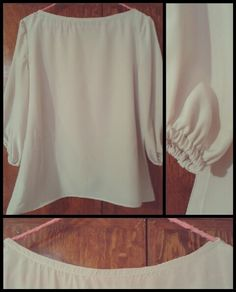 Blusa color beige.