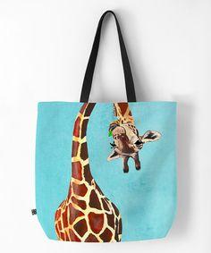 Look what I found on #zulily! Green Leaf Giraffe Tote #zulilyfinds