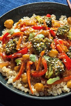 NYT Cooking: The vegan chef Jenné Claiborne grew up in suburban Atlanta, where she developed a love for the teriyaki chicken stir-fry at Panda Expres. Chinese Vegetables, Mixed Vegetables, Veggies, Teriyaki Stir Fry, Teriyaki Sauce, Teriyaki Chicken, Soy Sauce, Broccoli Stir Fry, Vegetable Stir Fry