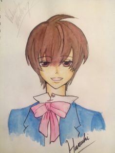 Haruhi Fujioka water color. Did this on my spare time.