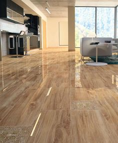 Living room tile / floor / porcelain stoneware / damask WOOD : SUBIC Ceracasa Ceramica