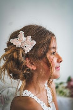 Flower Girl Hairstyles, Party Hairstyles, Flower Girl Hair Accessories, Hair Garland, Flower Girl Gifts, Girl Inspiration, The Most Beautiful Girl, Love Hair, Bespoke
