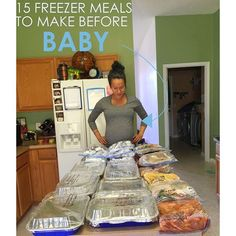 Freezer Meals Before Your Baby Arrives! - Diary of a Fit Mommy, 15 Freezer Meals Before Your Baby Arrives! - Diary of a Fit Mommy, Diy Freezer Meals Before Your Baby Arrives! - Diary of a Fit Mommy, Diy Abschnitt, Make Ahead Freezer Meals, Freezer Cooking, Meals To Freeze, Freezer Recipes, Chicken Freezer Meals, Freezable Recipes, Freezer Meal Party, Crock Pot Freezer, Baby Cooking