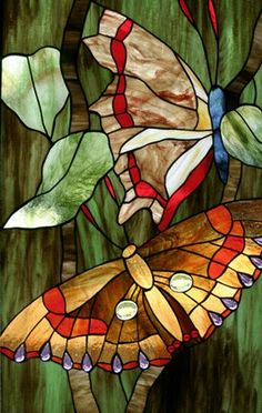 Vlinders Stained Glass Paint, Making Stained Glass, Stained Glass Flowers, Stained Glass Designs, Stained Glass Projects, Stained Glass Patterns, Stained Glass Windows, Tile Art, Mosaic Art
