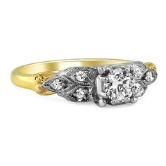 The Cheryl Ring from Brilliant Earth--I love two-tone rings.  They remind me of movie stars.
