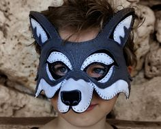 Whos afraid of the Big Bad Wolf? A felt mask with hand embroidered details makes a handsomely dashing wolf. This Printable PDF pattern is fully illustrated with detailed instructions and a full size pattern. Available for INSTANT DOWNLOAD! Pattern and Design copyright by Oxeyedaisey