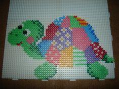 Patchwork turtle -- perler beads