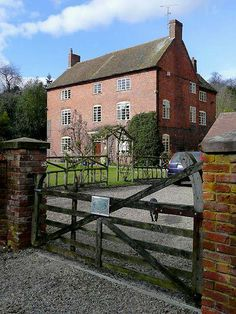Jennings Farm where Robert Plant lived in the early years of Led Zeppelin.  Located in  Blakeshall, Worcestershire and complete with a Black Dog!