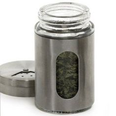 GLASS SPICE STORAGE AND SHAKER JAR