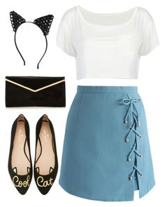 """""""Cool cat"""" by worldsbiggestdiva ❤ liked on Polyvore featuring Chicwish, Kate Spade and Boohoo"""
