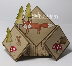 Stampin' Sarah!: A Life in the Forest Diamond Fancy Fold Card from Stampin' Up! UK Demonstrator Sarah Poulton
