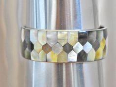 Silver Tone Mosaic bangle