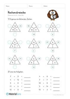 kostenloses arbeitsblatt 2 klasse mathematik rechendreieck kostenlose arbeitsbl tter. Black Bedroom Furniture Sets. Home Design Ideas