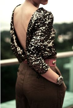 plunging sequin back