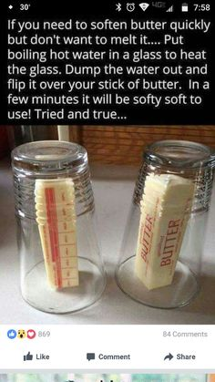 How to soften and bring butter to room temperature quickly without melting it | Life Hacks
