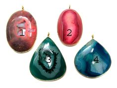 24 kt Gold Plated Druzy Pendants  1 piece of fine by finegemstone, $24.00