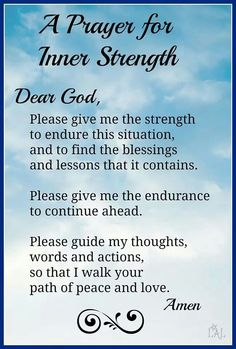 A prayer for inner strenght