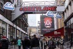 Disneys Wreck-It Ralph 8-Bit Lane Pixel Street Art in London 1
